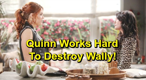 The Bold and the Beautiful Spoilers: Quinn Works To Destroy Wyatt and Sally's Relationship