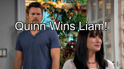 The Bold and the Beautiful (B&B) Spoilers: Shocking Future For Quinn – Rena Sofer Hints Liam Makes Her Dreams Come True