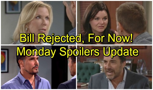 The Bold and the Beautiful Spoilers: Monday, September 17 Update - Brooke Tells Bill To Back Off - Katie and Thorne Get Engaged