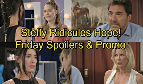 The Bold and the Beautiful Spoilers: Friday, September 7 – Steffy Gives Hope the Harsh Truth – Brooke Rages at Unfair Ridge