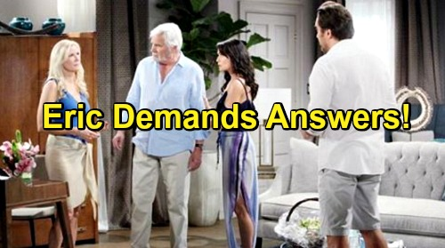 The Bold and the Beautiful Spoilers: Eric Grills Fighting Ridge and Brooke, Quinn Worries Cheating Exposed