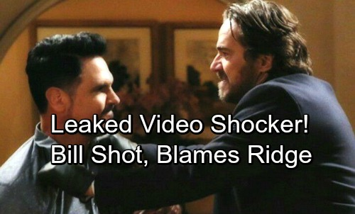 The Bold and the Beautiful Spoilers: Leaked Video Shows Bill Shot and Hospitalized, Blames Ridge – Real Shooter on the Loose