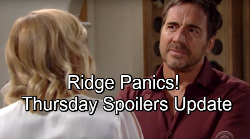 The Bold and the Beautiful Spoilers: Thursday, November 8 Update – Steffy's Stunning Showstopper – Panic Hits for Ridge