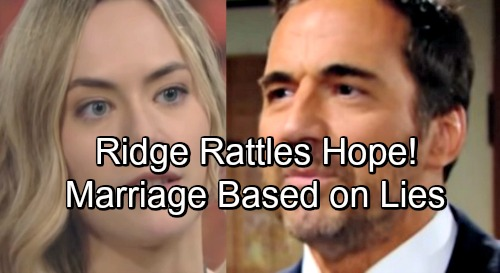 The Bold and the Beautiful Spoilers: Desperate Ridge Convinces Hope - Liam Marriage Based On Evil Lies