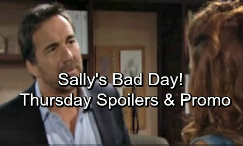 The Bold and the Beautiful Spoilers: Thursday, June 28 –  Katie Confronts Wyatt Over Sally - Explodes at Eric