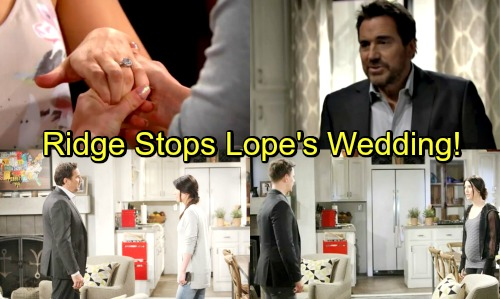 The Bold and the Beautiful Spoilers: Ridge Interrupts Hope and Liam's Wedding With Shocking News