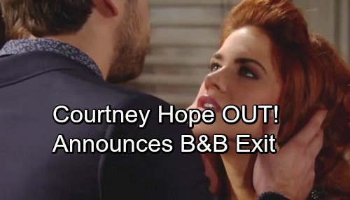 The Bold and the Beautiful Spoilers: Courtney Hope Announces Soap Exit – Sally Out at B&B