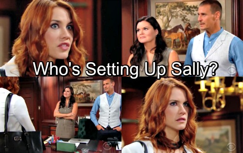 The Bold and the Beautiful Spoilers: Sally Accused Of Being Hope's Stalker, Desperate To Prove Innocence - Who's Setting Her Up?