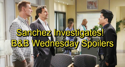 The Bold and the Beautiful Spoilers: Wednesday, October 24 – Detective Sanchez Grills Suspects – Quinn Gets a Big Surprise