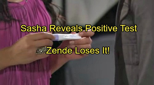 The Bold and the Beautiful (B&B) Spoilers: Sasha Shows Zende Positive Pregnancy Test, Operation Fake Baby Continues