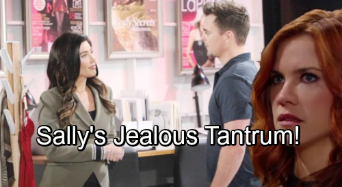 The Bold and the Beautiful Spoilers: Steffy and Wyatt Bond on the Job – Jealousy Erupts for Sally, Reignites Fierce Rivalry