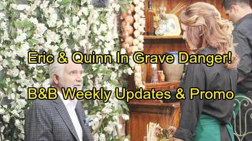 The Bold and the Beautiful Spoilers: Week of November 27 Update - Sheila's Shocking Move - Eric and Quinn In Grave Danger