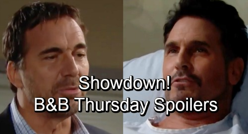 The Bold and the Beautiful Spoilers: Thursday, November 1 - Ridge and Bill's Brooke Contest - Quinn's Portrait Refusal