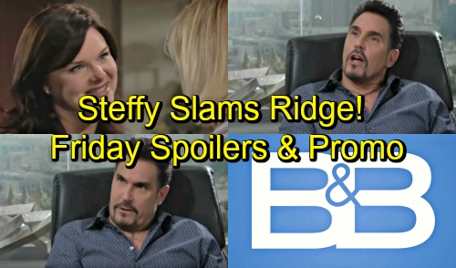 The Bold and the Beautiful Spoilers: Friday, September 14 - Steffy Calls Out Ridge - Thorne Puts A Ring On It