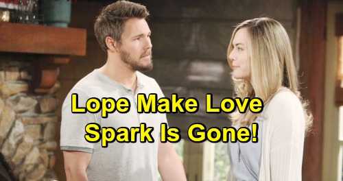 The Bold and the Beautiful Spoilers: Liam and Hope Make Love for First Time Since Beth's Death – Can't Recapture Old Spark