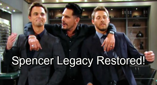 The Bold and the Beautiful Spoilers: Liam and Wyatt Share Touching Thanksgiving With Bill - Spencer Legacy Restored