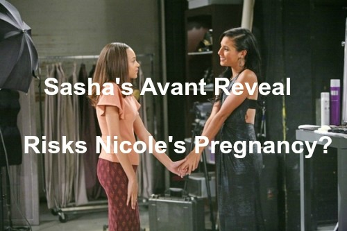 The Bold and the Beautiful (B&B) Spoilers: Stress of Sasha Reveal as Julius' Daughter Puts Nicole's Pregnancy at Risk?