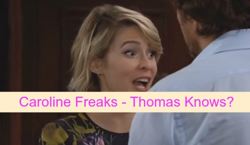 The Bold and the Beautiful (B&B) Spoilers: Caroline Freaks Liam Knows Thomas Is Baby Daddy – Maya Feels Guilty Over Nicole