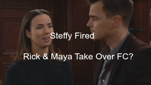 The Bold and The Beautiful (B&B) Spoilers: Steffy Loses FC Presidency for Violating TRO - Rick and Maya Move for Takeover?