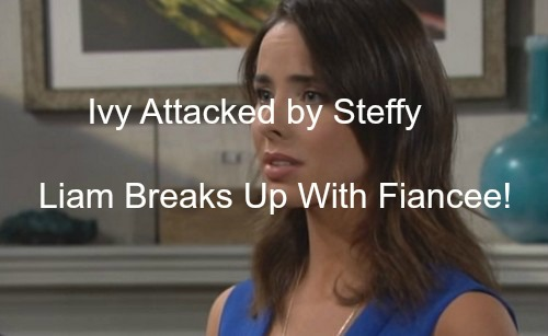 The Bold and the Beautiful (B&B) Spoilers: Ivy Attacked by Steffy - Liam Breaks-Up With Steffy After Tragic Staircase Fall