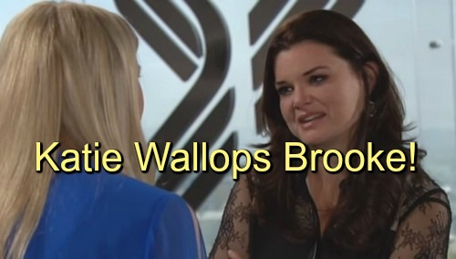 The Bold and the Beautiful (B&B) Spoilers: Katie Physically Attacks Brooke Over Confession of Love for Bill