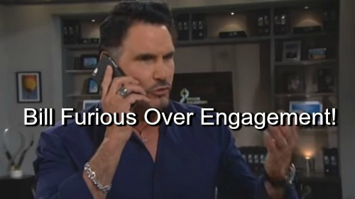 The Bold and the Beautiful (B&B) Spoilers: Bill Furious Over Wyatt and Steffy's Engagement – Tries to Warn Liam