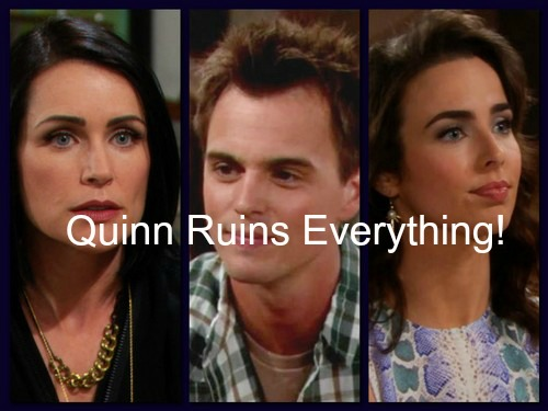 The Bold and the Beautiful (B&B) Spoilers: Quinn Uses Ivy's Blackmail to Derail Liam & Steffy - Crushes Wyatt's Proposal