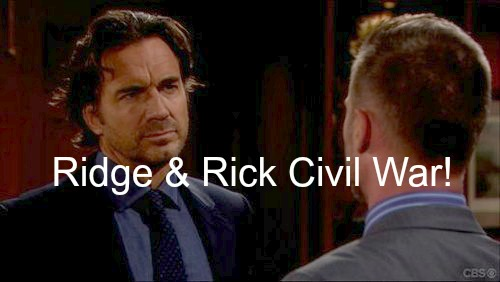 The Bold and the Beautiful (B&B) Spoilers: Ridge Fights Rick For Control of Forrester Mansion - Caroline and Maya Get Ugly