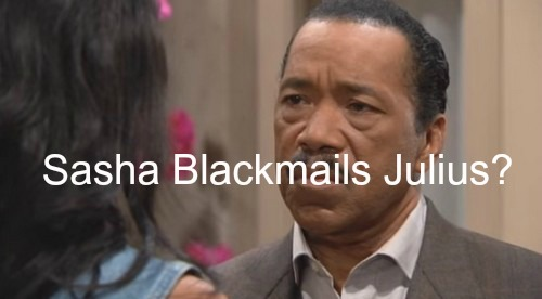 The Bold and the Beautiful (B&B) Spoilers: Julius Blackmailed by Daughter - Sasha Threatens Secret Dad!