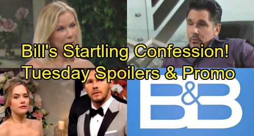 The Bold and the Beautiful Spoilers: Tuesday, August 21 - Liam and Hope Marry - Bill Makes a Startling Confession