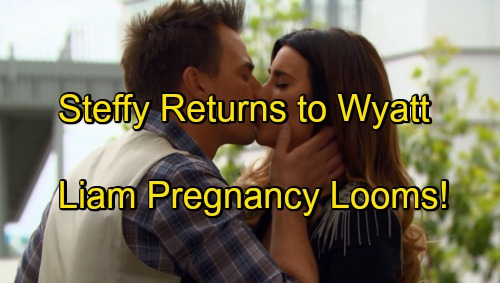 The Bold and the Beautiful Spoilers: Steffy Repairs Marriage - Wyatt Takes Wife Back, Doesn't Know Pregnant With Liam's Baby