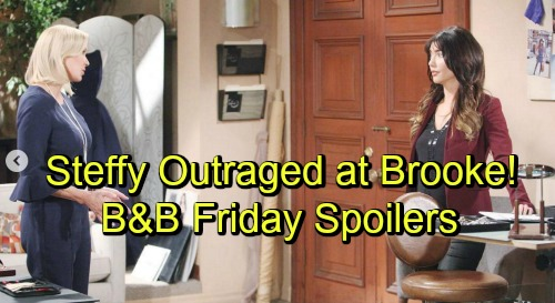 The Bold and the Beautiful Spoilers: Friday, October 19 - Enraged Ridge Tracks Down Bill - Brooke Tries To Soothe Steffy's Anger