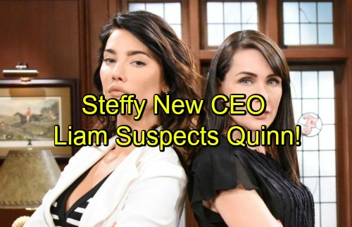 The Bold and the Beautiful Spoilers: Steffy Accepts Forrester CEO Position, Quinn Serves as President – Liam Fears Trouble