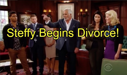 'The Bold and the Beautiful' Spoilers: Steffy Begins Divorce, Wyatt Supports Quinn Anyway as Disaster Strikes