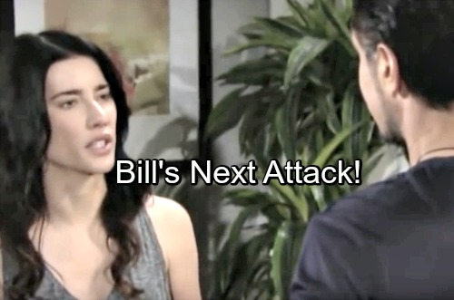 The Bold and the Beautiful Spoilers: Steffy Panics As Bill Abandons Blackmail - Dreads Obsessed Schemer's Next Tactic
