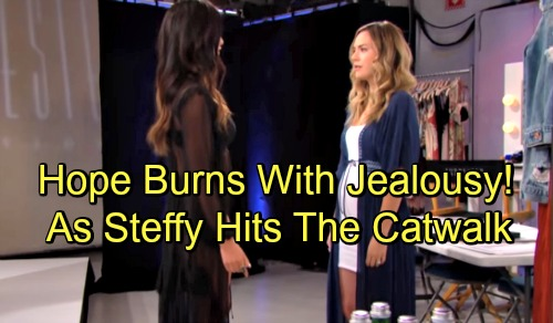 The Bold and the Beautiful Spoilers: Steffy Takes To The Catwalk - Flaunts The Intimates Line In Front of Hope