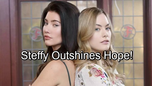 The Bold and the Beautiful Spoilers: Steffy Outshines Hope at Forrester - Hope Focuses On Baby Plans