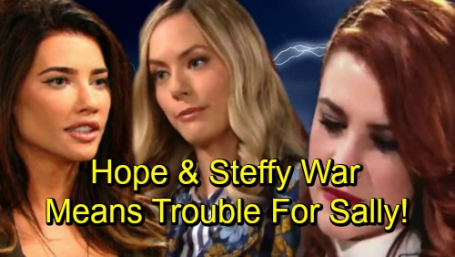 The Bold and the Beautiful Spoilers: Sally's Celebration Short-lived – Steffy and Hope's War Leads to Forrester Disaster