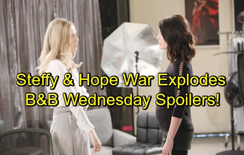 The Bold and the Beautiful Spoilers: Wednesday, April 25 – Hope and Steffy's War Spirals Out of Control – Ridge Plays Dad to Liam