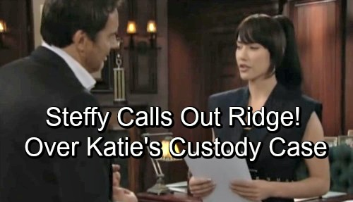The Bold and the Beautiful Spoilers: Steffy Calls Out Ridge - Questions His Motives For Supporting Katie's Custody Case