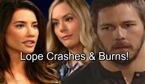 The Bold and the Beautiful Spoilers: Liam Pushed to His Limit as Hope and Steffy's War Intensifies – Lope Crashes and Burns