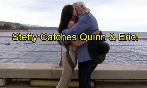 'The Bold and the Beautiful' Spoilers: Steffy Catches Quinn and Eric's Beach Frolic – Wyatt Fears Marriage Over