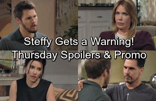 The Bold and the Beautiful Spoilers: Thursday, April 19 – Bill Hides Real Shooter From Liam – Taylor Warns Steffy Danger Persists