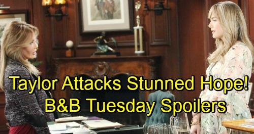The Bold and the Beautiful Spoilers: Tuesday, November 27 – Rattled Hope Faces Taylor's Fury – Liam and Steffy's Fierce Showdown