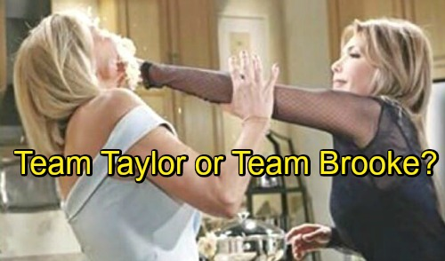 The Bold and the Beautiful Spoilers: Wedding Cake War Erupts - Team Taylor or Team Brooke?