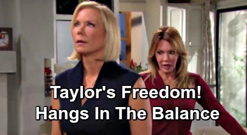 The Bold and the Beautiful Spoilers: Taylor's Freedom Hangs In The Balance - Will Brooke and Hope Turn Taylor In For Shooting Bill?