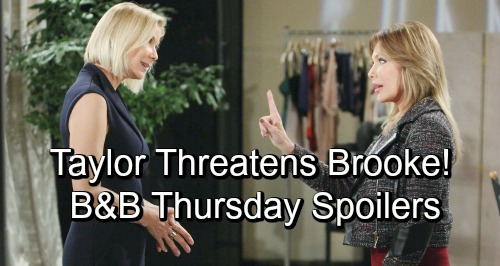 The Bold and the Beautiful Spoilers: Thursday, November 29 - Taylor Blasts Brooke In Fierce Face-Off