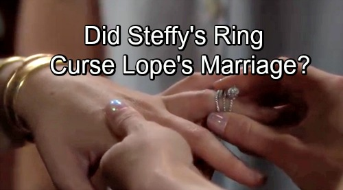 The Bold and the Beautiful Spoilers: Lope Marriage Cursed by Steffy Placing Engagement Ring on Hope's Finger