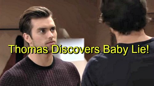 The Bold and the Beautiful (B&B) Spoilers: Thomas Confronts Ridge and Caroline Upon Learning of Big Baby Lie