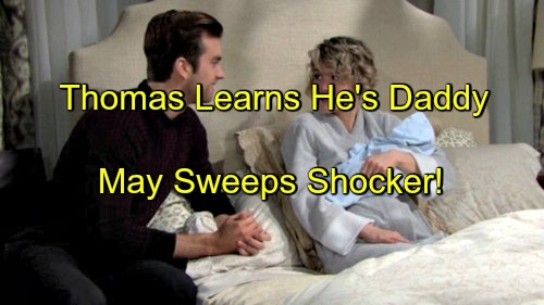 The Bold and the Beautiful (B&B) Spoilers: Ridge Lies About Sperm Donor – Thomas Learns He's a Daddy During May Sweeps